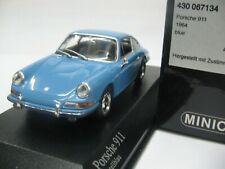 WOW EXTREMELY RARE Porsche 911 1964 Coupe R Blue 1:43 Minichamps-356-930-Spark