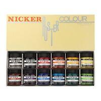NICKER Watercolor Paint Poster Color 12 Colors Set 40ml Middle Bottle Anime