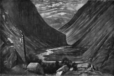 NORWAY. Valley of Heimdal 1871 old antique vintage print picture