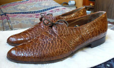 Bally Vintage 1950's Exotic Alligator Crocodile Plaintoe Derby 9 D