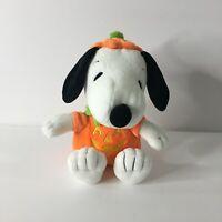 "Hallmark Peanuts Snoopy Pumpkin Plush Halloween 7.5"""