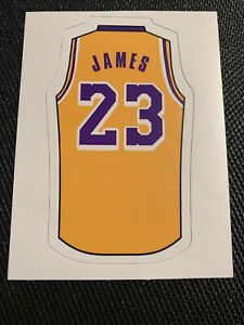 """LeBron James Vinyl Decal Sticker Jersey #23 Lakers King 4"""" x 2.3"""" Los Angeles"""