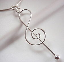 Treble Clef 925 Sterling Silver Pendant Corona Sun Jewelry musician music song