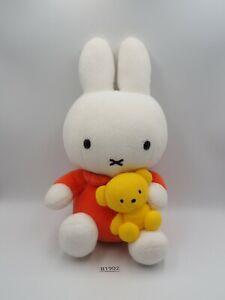 "Miffy B1902 Rabbit Bunny Teddy Bear Sekiguchi Plush 9"" Stuffed Toy Doll japan"