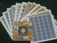 """India """"SPACE ~ ZODIAC ~ ASTROLOGICAL SIGNS"""" Set of 12 MNH Full Sheets + MS 2010"""