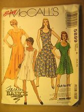 UNCUT Sewing Pattern 1992 McCALL'S Size A 6,8,10 JUMPSUIT 5899 [Z180]