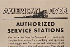 American Flyer Authorized Service Stations Pamphlet Booklet M3358 1954 Railroad