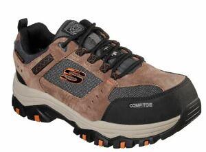 Skechers Men's Brown Composite Toe Electrical Hazard Waterproof Sneaker 77183