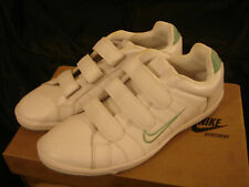 Nike Court Tradition velcro white green women leather trainers uk 5 eu 38.5