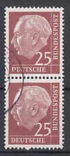 BRD 1954 Mi. Nr. 186 senkrechtes Paar gestempelt (18336)
