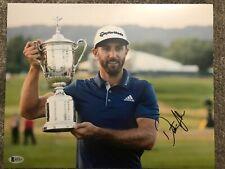 Dustin Johnson signed 11x14 Photo Beckett COA PGA Golfer