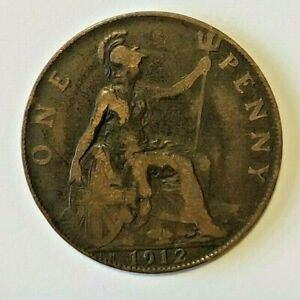 GEORGE V PENNY COIN 1912H HEATON (1)