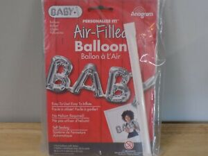"""26"""" Air-Filled Decoration BABY Silver Foil Balloon Party Supplies 33106"""