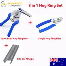 Hog Ring Plier Fastener Gun Hand M Staple Gun 3 in 1 Mesh Cage Wire Fencing