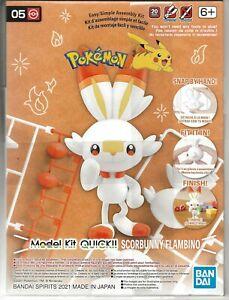 Bandai POKEMON Model Kit SCORBUNNY / FLAMBINO NO Glue, no Paint, SNAP 2561633
