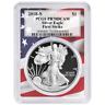 2018-S Proof $1 American Silver Eagle PCGS PR70DCAM First Strike Flag Frame