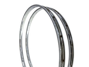 Pair Samir Samirinox 28h 24/600A Clincher Chrome Steel Bicycle Rims