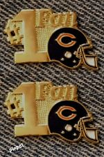 #1 Fan Lapel Pin~Chicago Bears~Lot of 2~NFL~Football~1980s Vintage~TM by Travis