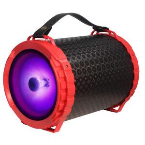 "Fully Powered Bluetooth 1000 Watts Peak Power 6.5"" Speaker w/ LED Light - Red"