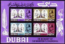 Dubai 1966 ** Bl.36 Churchill, mit Trauerrand