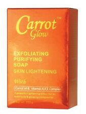 Carrot Glow Exfoliating Skin Lightening Soap w/Carrot Oil & Vitamin A,K,E 7oz