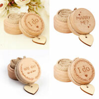 Rustic Wooden Ring Bearer Box Jewelry Box Wedding Ring Box Ring Holder + Heart