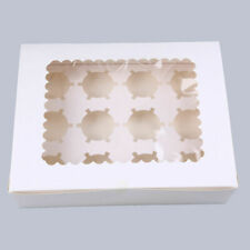 Paper Muffin Cupcake Cake Packing Box Case Wedding Party Container Clear Window