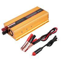 2000W Car Power Inverter LCD Screen USB Charger Converter Modified Sine Wave