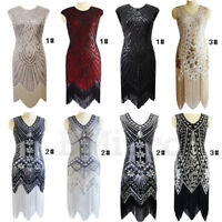 1920s Flapper Gatsby Evening Dress 20s Sequins Dresses Cocktail Party Grom Prom