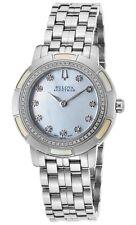 Swiss Made Accutron Bulova 63R138 Pemberton Diamond SS MOP Dial Ladies Watch