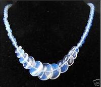 "Beautiful Handmade Fire Opal Opalite Gems Round&Coin Beads Necklace 17""AAA"