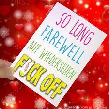 Leaving Card New Job Goodbye Farewell Rude Colleague Funny Work Friend Fun PC145