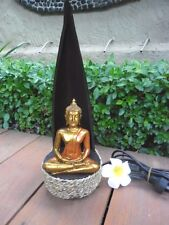 Bali Coco Frond Buddha Design Table Lamp