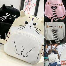 Cute Girls Backpack Cat Ear High School Bag Japan Canvas Rucksack Birthday Gift