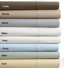 HOTEL COLLECTION 600 TC Truffle Brown Egyptian Cotton King Flat Sheet Bedding