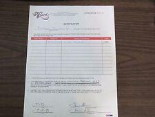 Damon Stoudamire Autographed / Signed Score Board Contract PSA/DNA Raptors