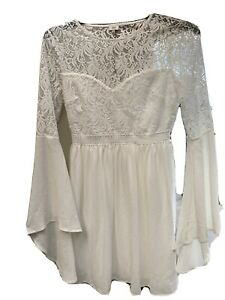 Lot 8 Ladies River Island Size 10 Party/wedding/occasion Dress Cream Short