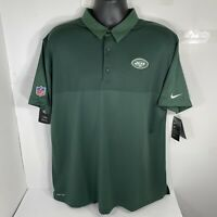 NWT Nike New York Jets Dri Fit Polo Shirt Men's XL Forest Green 837203-323