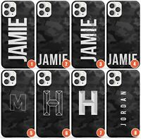 Personalised Dark Camouflage Slim Phone Case for iPhone | Camo Customisable Name