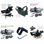 2.5-10X40 Tactical Rifle Scope Red Green Mil Dot Laser Sight w/ Mounts