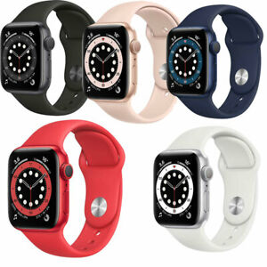APPLE Watch 6 GPS + Cellular 40mm   44mm mit Sport Band Verschiedenen Farben