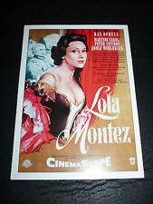LOLA MONTEZ, film card [Martine Carol, Peter Ustinov]