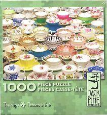 TEACUPS 1000 pc Jigsaw Puzzle Tea Cups Jack Pine Cobble Hill