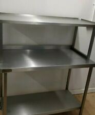 More details for commercial kitchen stainless steel freestanding shelving unit heavy duty