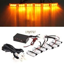 18 LED Emergency Vehicle Car Truck Strobe Flash Lights Front Grille Amber/Yellow