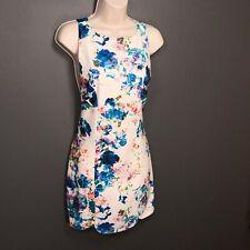 Lovers + Friends Jetset Bodycon Floral Dress Cutout Keyhole Back Size S