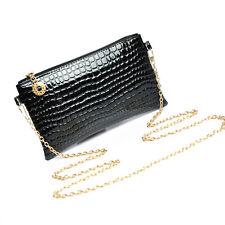 Women Leather Messenger Crossbody Clutch Ladies Shoulder Handbag Bag Black Gift