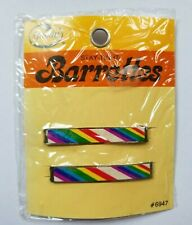 Vintage 1975 Goody Stay-Tight Barrettes Rare HTF #6947 Rainbow NOS