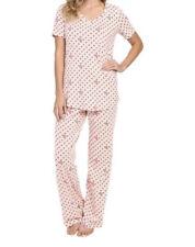 Vera Bradley Knit Pajamas Set in Blush Hearts Size: XS Free Gift