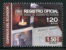 Ecuador 2015 Registro Oficial Geschichte Zentralregister **MNH